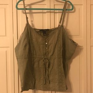 Lane Bryant green strappy tank